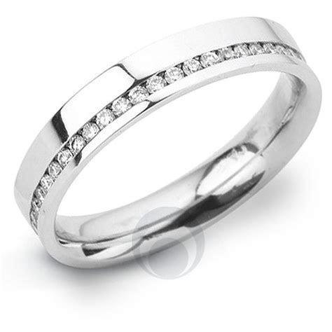 Channel Diamond Platinum Wedding Ring Wedding Dress from