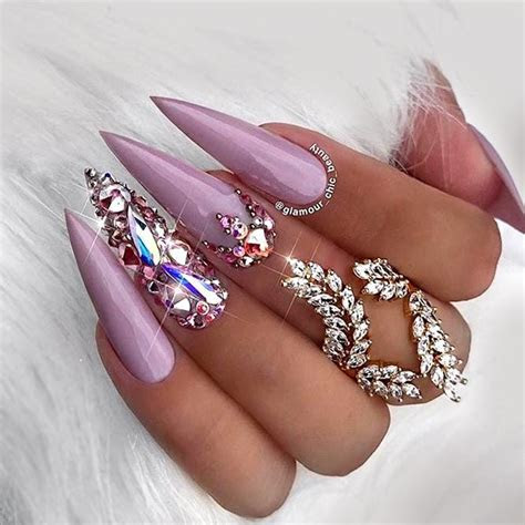 Best Shades Of Lavender Color Nails For You   crazyforus