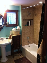 Bathrooms that are teal and brown home design - Bathroom color schemes brown and teal ...