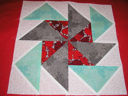 Flying Geese pinwheel block QAL by Celtic Thistle