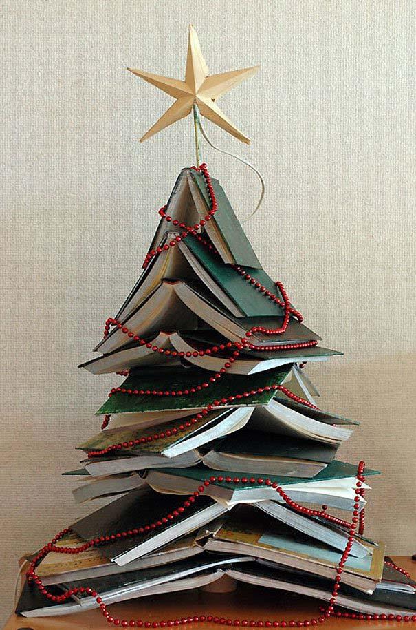 DIY Χριστουγεννιάτικα δέντρα (8)