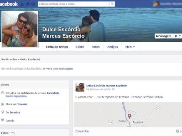 Jovem fez postagem no Facebook quatro horas antes de queda da aeronave Foto: Facebook / Reprodução