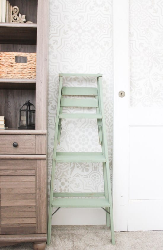 painted vintage ladder