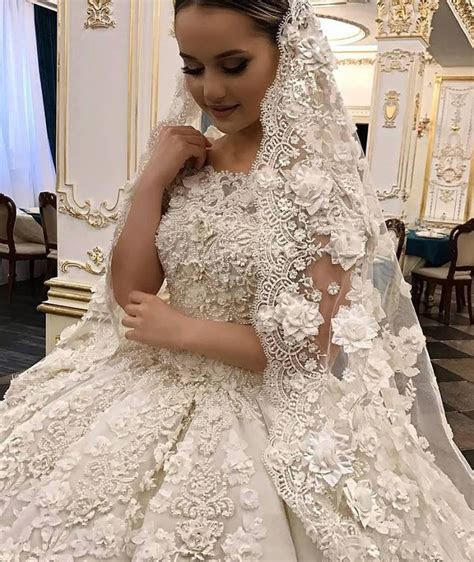 Delicate Lace Ball Gown Wedding Dresses   Wedding dresses