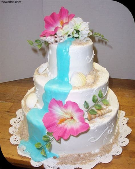 pretty hawaiian wedding cake   Catering in 2019   Wedding