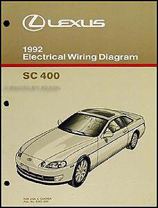 1992 Lexus SC 400 Electrical Wiring Diagram Manual ...