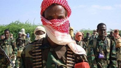 A member of the al-Shabab militant group pictured on a training exercise in northern Mogadishu, Somalia January, 2010.