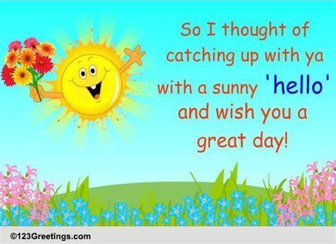 A Sunny Hello  Free World Hello Day eCards, Greeting