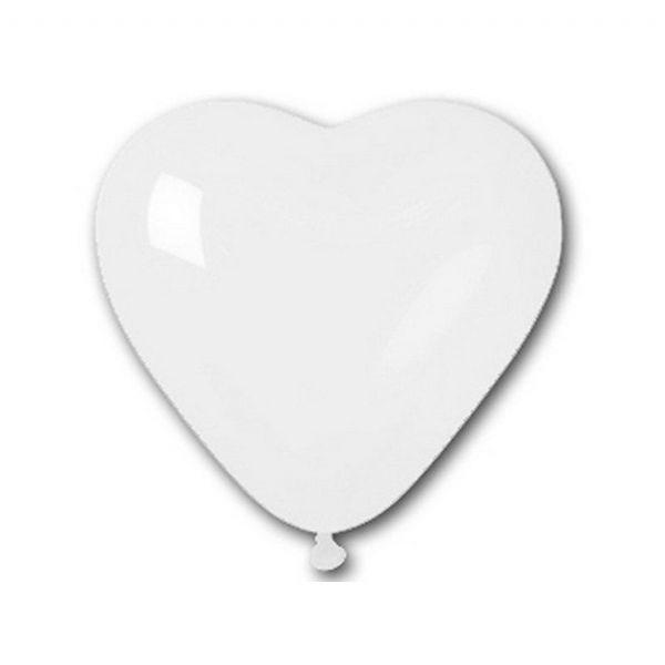 Beyaz Kalpli Balon Baskisiz 100 Lü 12 Inç Kalpli Balon Balon