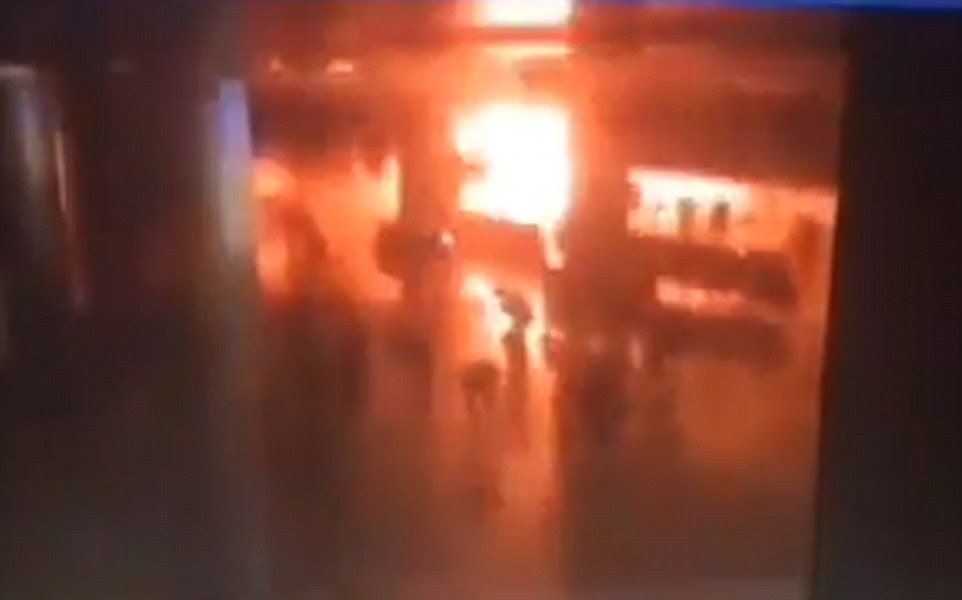 Footage appears to show the moment the explosion was detonated in what Turkish officials have declared was a terrorist attack