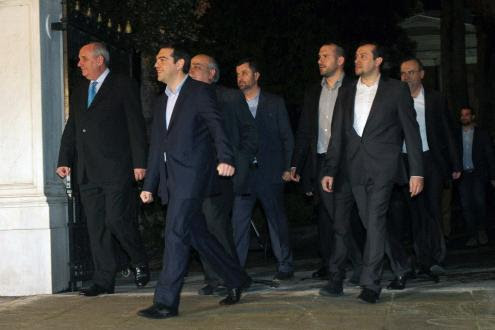Tsipras está incansável. Foto Left.gr