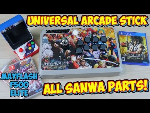 The Mayflash F500 Elite Universal Arcade Stick With All Sanwa Parts
