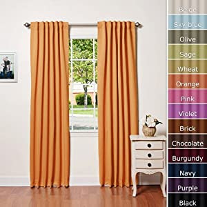 Amazon.com - Solid Thermal Insulated Blackout Curtain 84