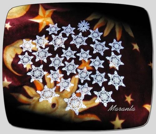 frywolitkowe gwiazdki