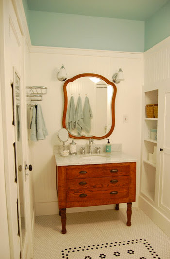 Adding Color And Trim To A Bathroom Ceiling | Young House Love