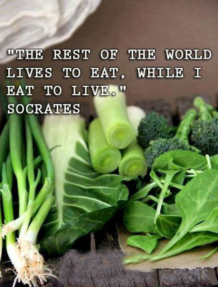 The Rest Of The World Lives To Eat While I Eat To Live Socrates