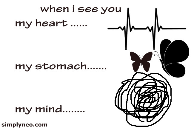 When I See You My Heartmy Stomach My Mind Simplyneo Quotes