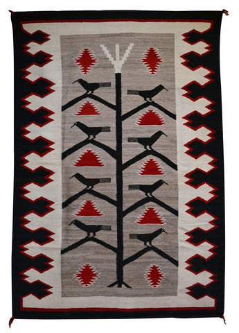 Navajo Rug Weaving Style Design History Tree Of Life Nizhoni