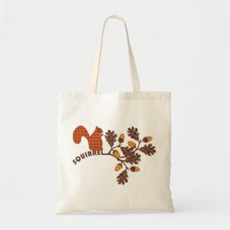 Squirrel on Branch Applique-look Thanksgiving Bags