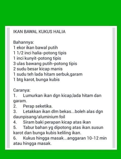 resepi ikan bawal berkuah resepi bergambar Resepi Ikan Goreng Pedas Kelantan Enak dan Mudah