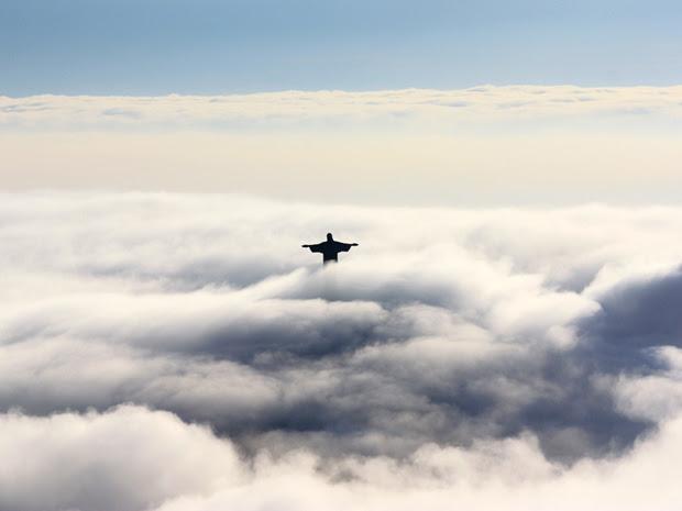 O Cristo entre nuvens (Foto: Marcos Teixeira Estrella/TV Globo)