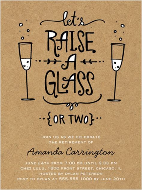 Raise Your Glass Surprise Party Invitations   Shutterfly