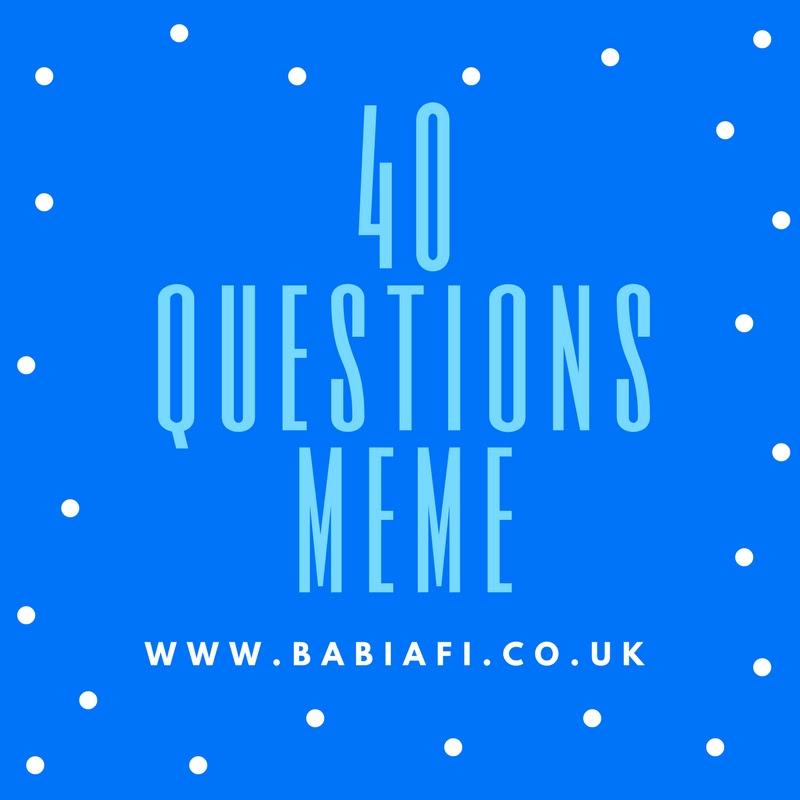 40 Questions Meme