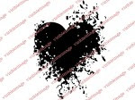 Visible Image Heart INKognito stamp