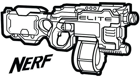 Nerf Coloring Pages - Bilscreen