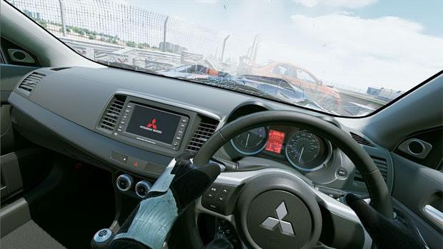 Imagem mostra detalhes de cokpit de carro em 'Project CARS' (Foto: Divulgação/Slightly Mad Studios)
