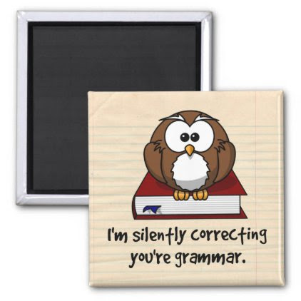 I'm Silently Correcting Your Grammar Wise Owl Magnet