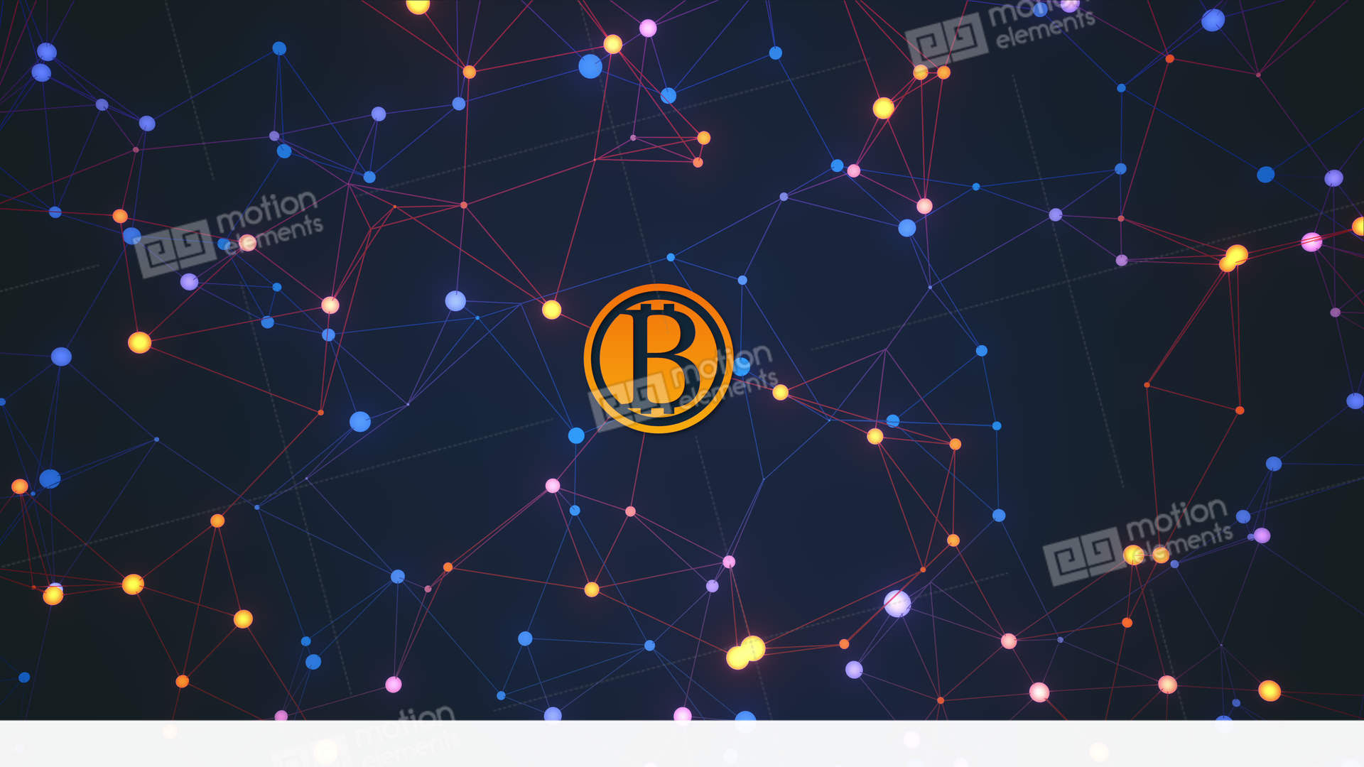 Bitcoin Transactions Conceptual Loopable Animation Stock video footage   11089208