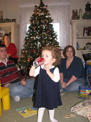 Melanie enjoys a Coke