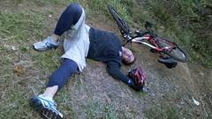 Weaver takes a trail break.