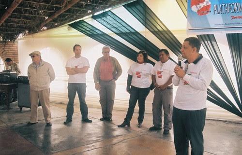 Dirigentes de la Plataforma Taurina del Perú