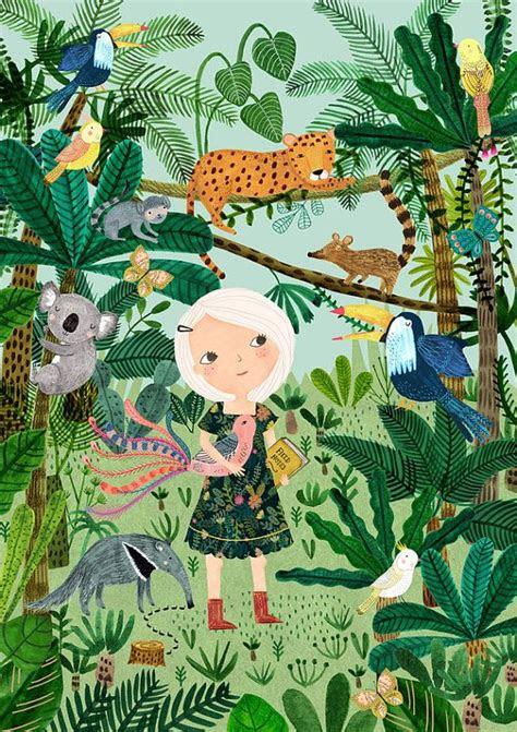 jungle girlgiclee print   original