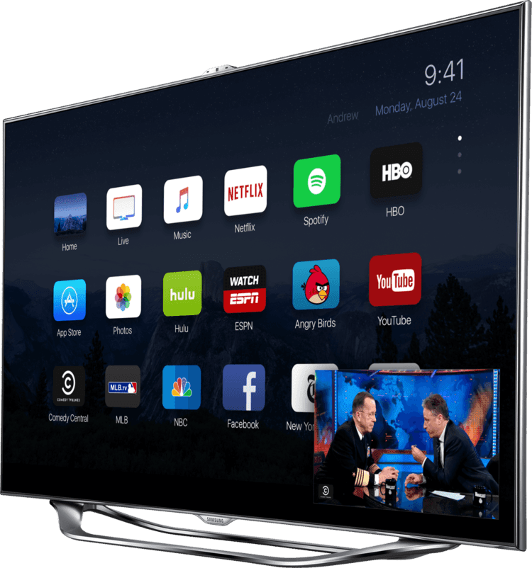 The new Apple TV running iOS 9 looks gorgeous