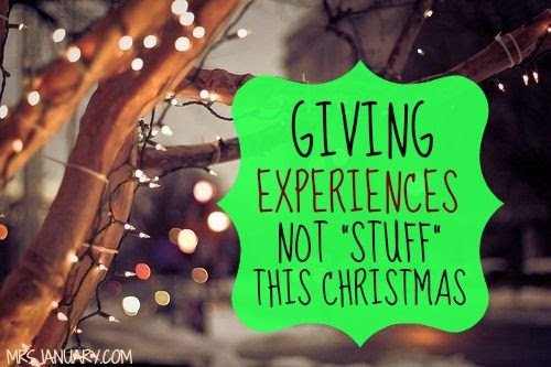 Instead of physical items, here are ideas for experiences that can serve as gifts for Christmas, birthdays and milestones throughout the year.