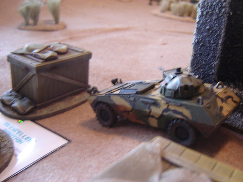 Autocannon trained on advancing enemy