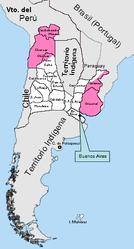 Ubicación de Provincias Unidas de Sudamérica