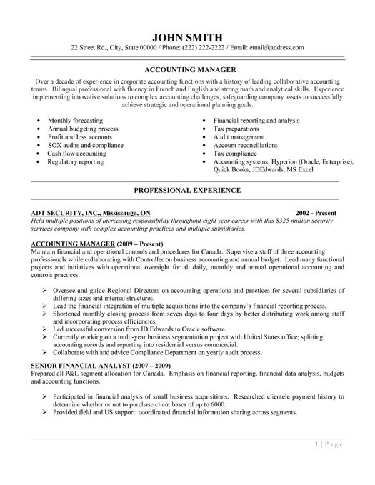 resume format  accounting resume templates samples