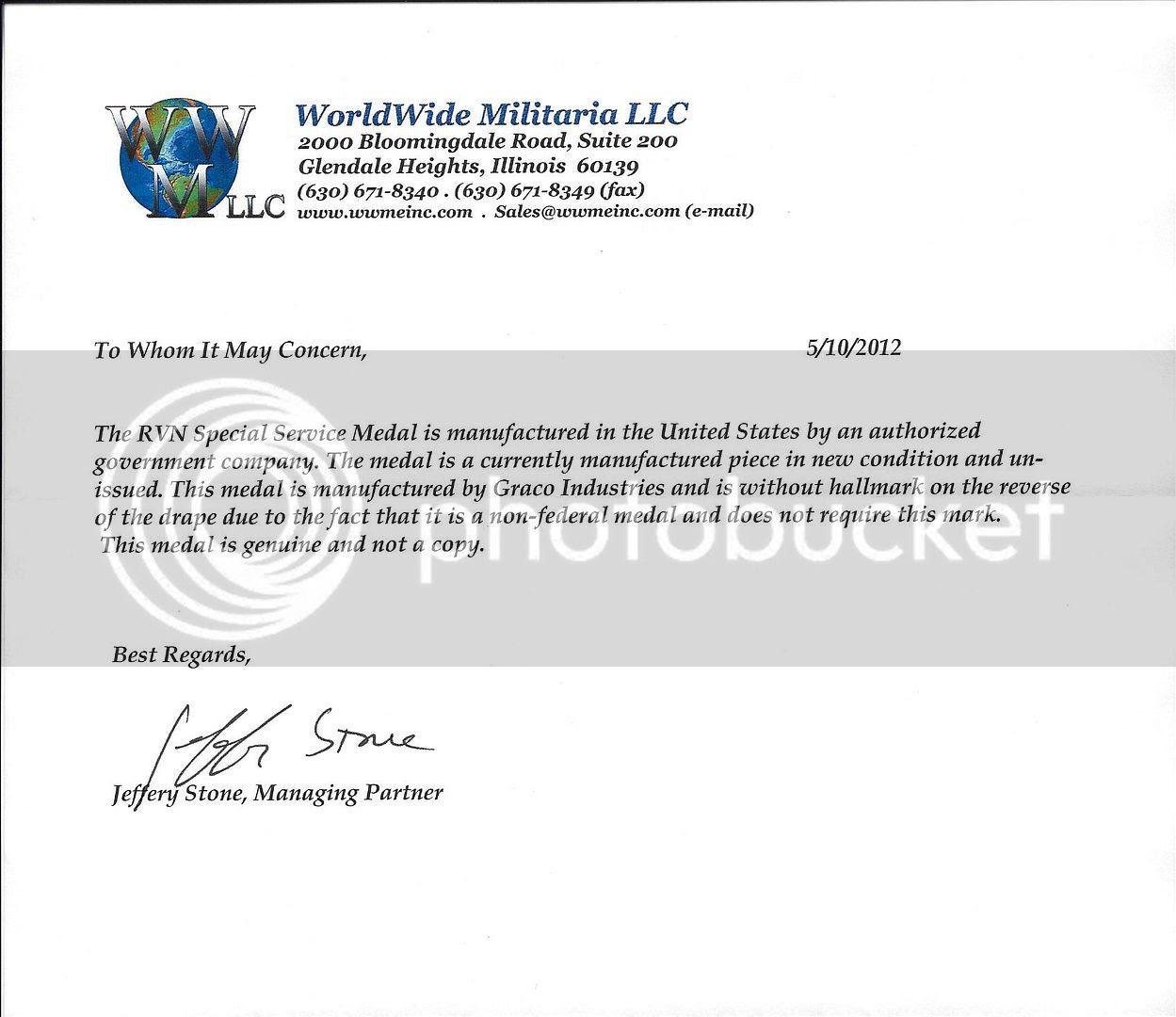 WWMletterRVNVietMedal2