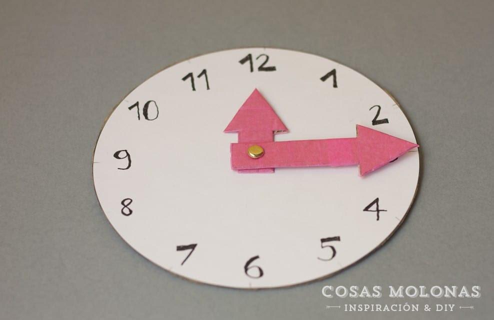 Reloj De Carton Para Niños Cómo Fabricarlo Cosas Molonas Diy Blog