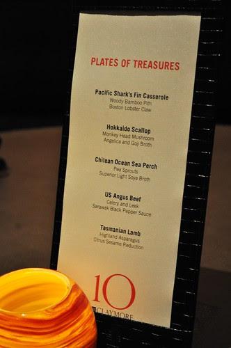 plates of treasure menu