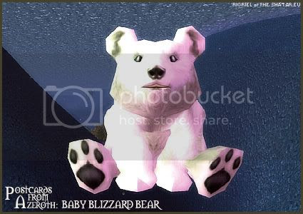 Postcards of Azeroth: Baby Blizzard Bear, by Rioriel of theshatar.eu