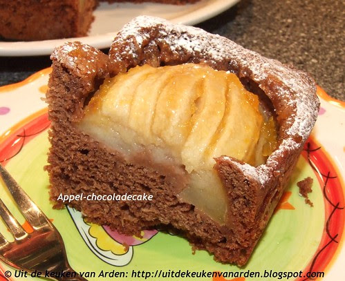 Appel-chocoladecake
