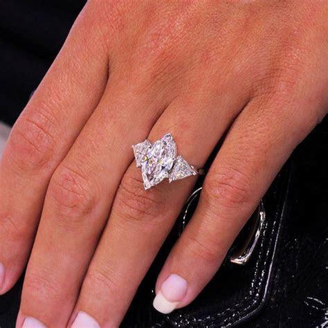 Huge 4.52ctw Marquise Cut Three Stone Trillion Diamond