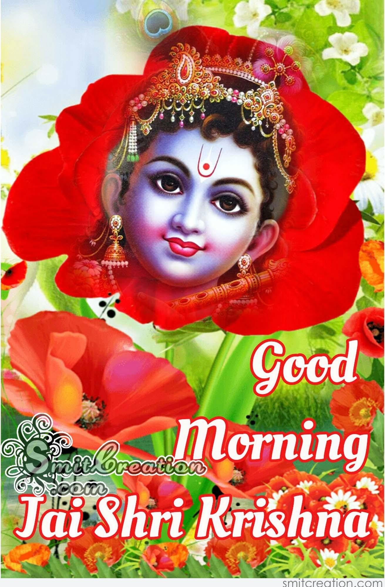 Good Morning Images With God Krishna Top Colection For Greeting