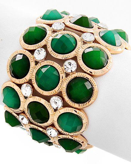 Emerald Bracelet  350573  www.dressygirlkouture.com
