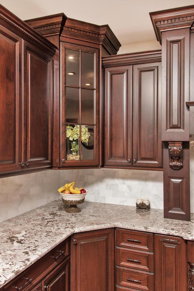 Dark Brown And White Kitchen Millstone New Jersey By Design Line Kitchens